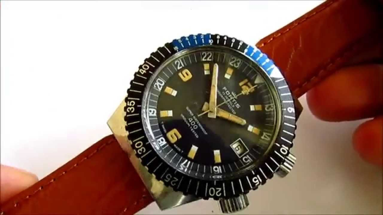Fortis Diver Vintage Wrist Watch Youtube