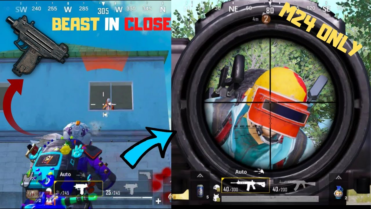 He Challenge Me M24 Only POWER OF UZI!! PUBG MOBILE