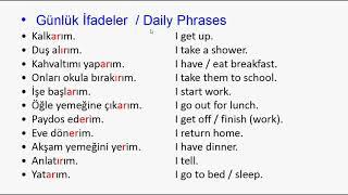 İngilizce Günlük  İfadeler  Dİnleme ve Okuma   A1  A2 - Beginner & Elementary