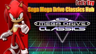 SEGA Mega Drive Classics Hub featuring Sonic Classic Heroes and Sonic 2 Recreation