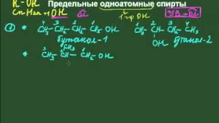 номенклатура и изомерия предельных одноатомных спиртов