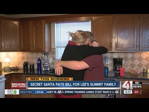 Lee's Summit Family Giving Thanks After Secret Santa Pays Their Bill