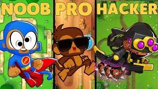NOOB vs PRO vs HACKER in BTD battles