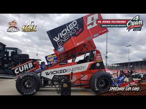 #9 James McFadden - World of Outlaws Sprint Car Series - Eldora Speedway 9-27-19 - In-Car Camera