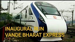Train 18   Inaugural Run of Engine-less Vande Bharat Express from New Delhi Station