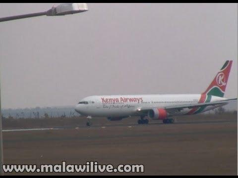 Kenya Airways Boeing Taking Off at Kamuzu International Airport in Lilongwe