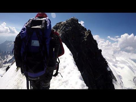 Grossglockner, 3 798 m d'altitude, father FALLS ! Vater stürzt!