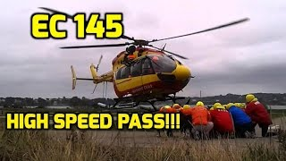 EC-145 Helicopter: Start-up and HIGH SPEED PASS!! WHOA!! MUST WATCH!!!!!