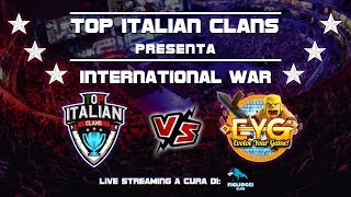Clash of Clans - INTERNATIONAL WAR - Top Italian Clans vs EYG - 50 vs 50 FULL TH12