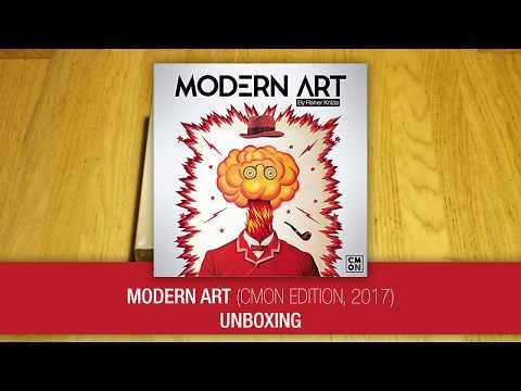 Modern Art (CMON edition, 2017) unboxing
