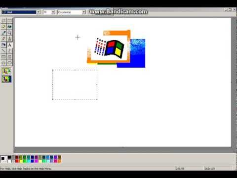 windows 2000 boot screen in ms paint youtube