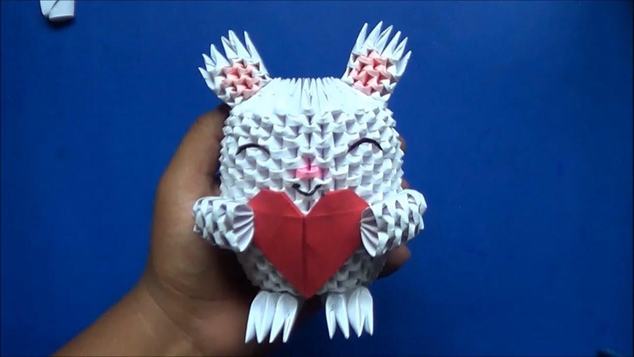 Origami 3D Conejo con Corazón - YouTube - photo#8