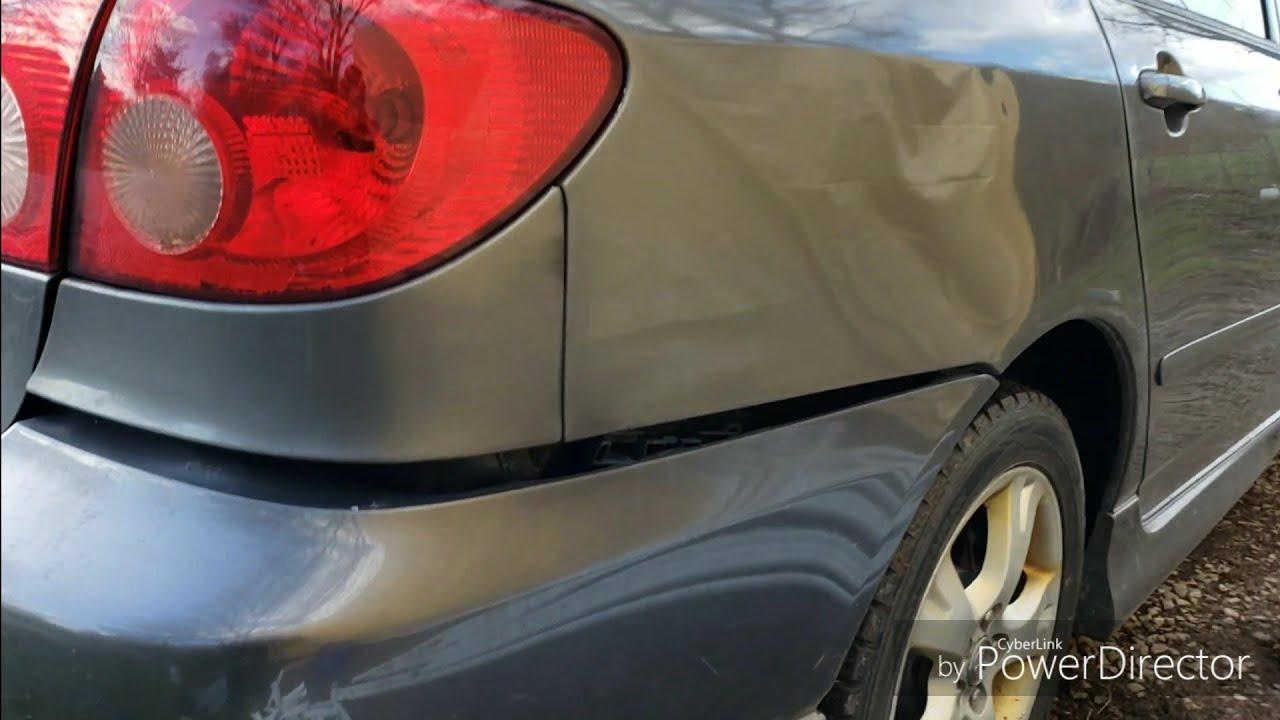 03-08 Toyota Corolla Rear Bumper Cover Fix