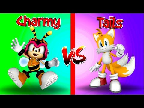 SONIC FORCES Speed Battle Compare CHARMY vs TAILS - Multiplayer Sonic Gameplay