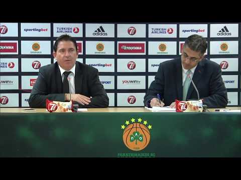 Euroleague Post - Game Press Conference: Panathinaikos Superfoods vs Real Madrid