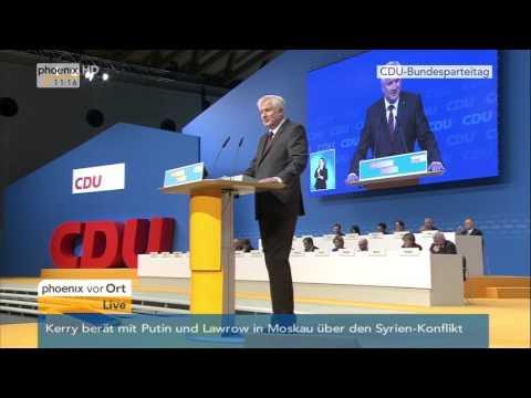 CDU-Parteitag: Horst Seehofer hält Rede am 15.12.2015