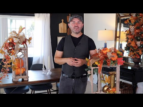How To Decorate A Lantern For Fall (quick and easy fall ideas )