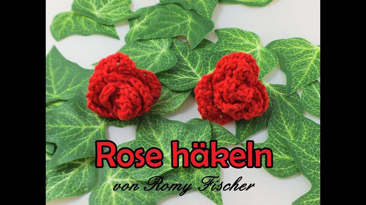 Rose Häkeln Diy Blume Häkelanleitung Youtube