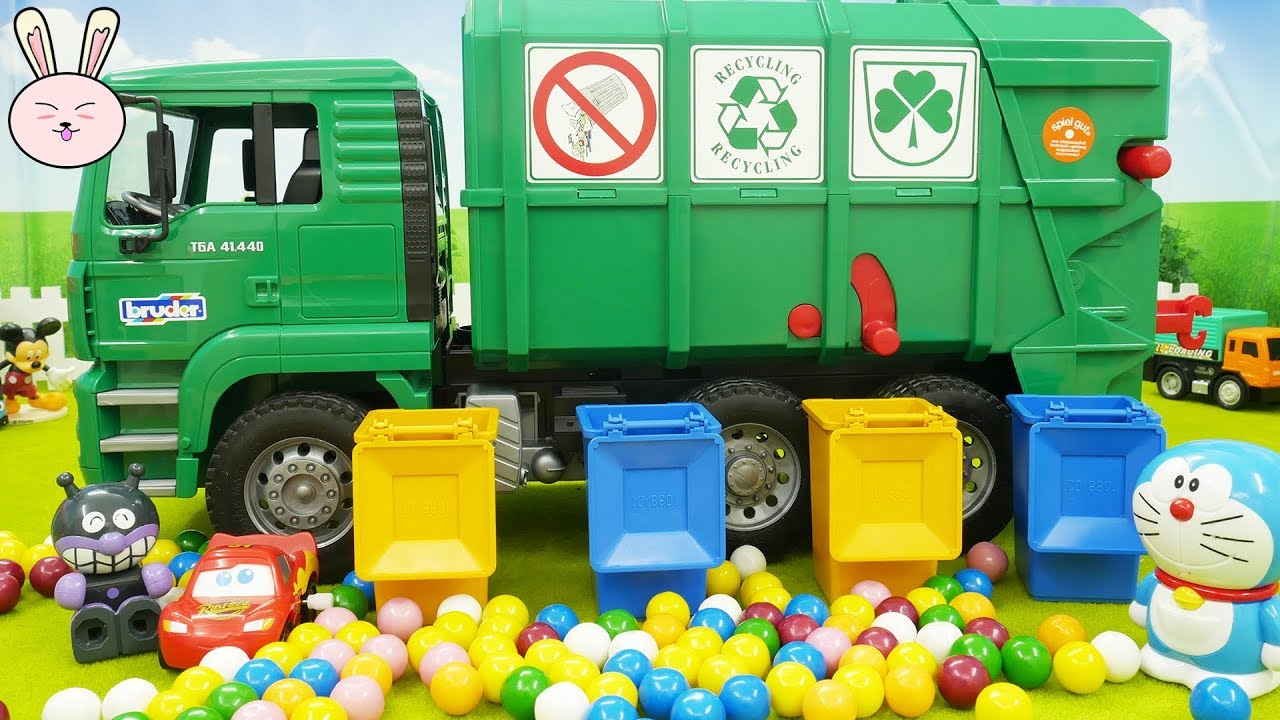 Garbage Truck For Kids Bruder Toys Gumball Get Mess Up At Tayo