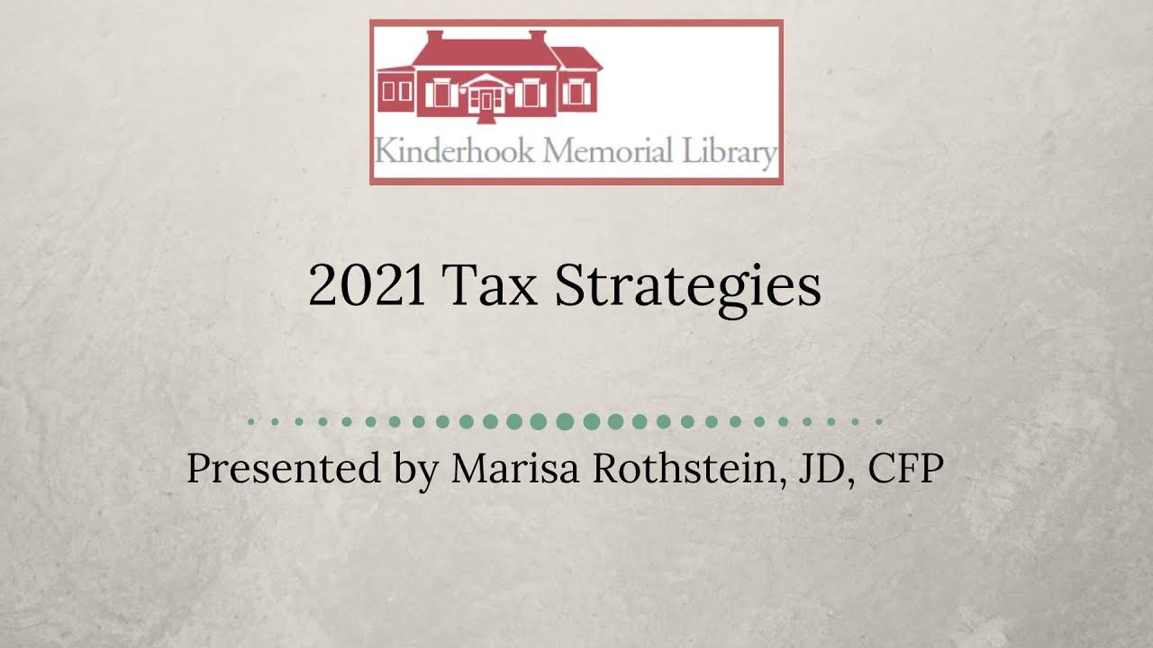 2021 Tax Strategies Webinar