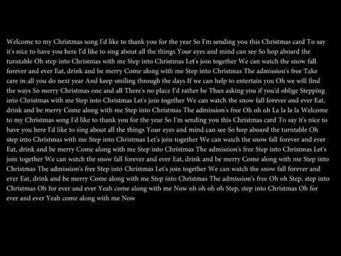 Elton John - Step Into Christmas (Lyrics)