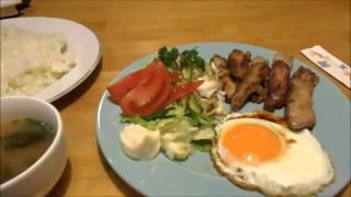 【お一人様の夕食】喫茶店でのんびり PM18:00 Meal leisurely alone,Correct use of chopsticks