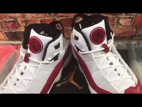 4f7802f218e5f8 Air Jordan Retro 6 Rings university Red White blk(Review)