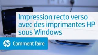 Impression recto verso avec des imprimantes HP sous Windows