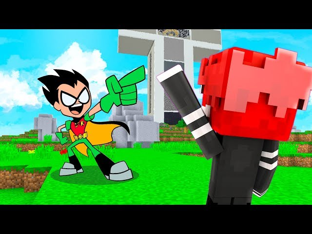 FUOCHETTO INCONTRA ROBIN di TEEN TITANS GO - CartoonCraft #4