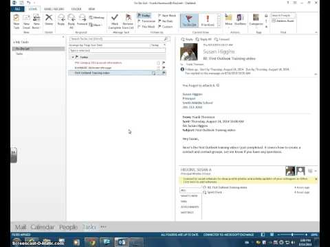 Outlook Flag an email and send a reminder