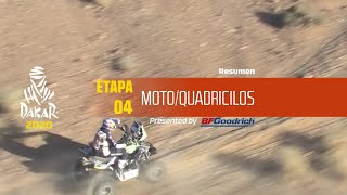 Dakar 2020 - Etapa 4 (Neom / Al Ula) - Resumen Moto/Quadriciclos