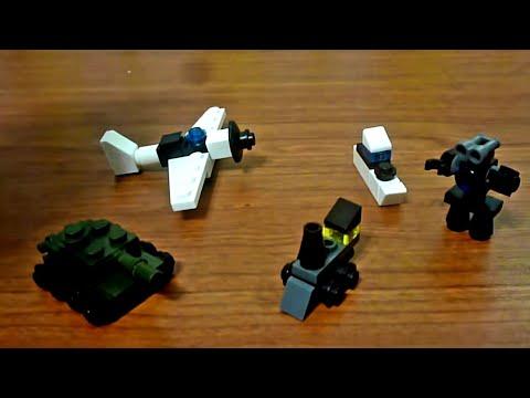 LEGO СаМоДеЛкИ №8 мини-танк,поезд,робот...