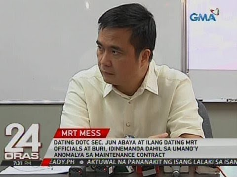 Dating DOTC Sec. Jun Abaya at ilang dating MRT officials at BURI, idinemanda