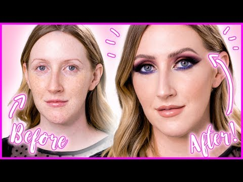 FIERCE MAKEUP TRANSFORMATION  Glowy Skin, Fluffy Brows, Smoky Eyes  Sharon Farrell