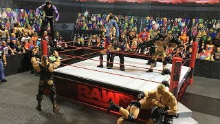 WWE Figure Raw Main Event Ring Set up - Review - Unboxing
