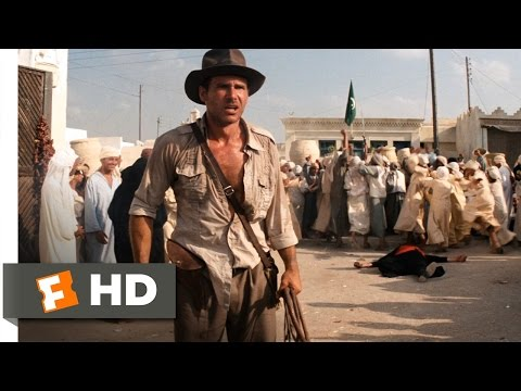 Raiders of the Lost Ark 310 Movie CLIP  Sword vs Gun 1981 HD