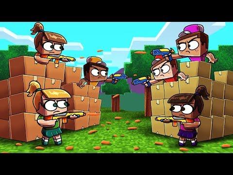 Minecraft | BOX FORT VS BOX FORT CHALLENGE! (Guns, Turrets, Boxes)
