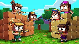 Minecraft | BOX FORT VS BOX FORT CHALLENGE! (Guns, Turrets, Boxes)