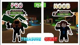 Roblox: Treasure Quest noob vs pro?!!!