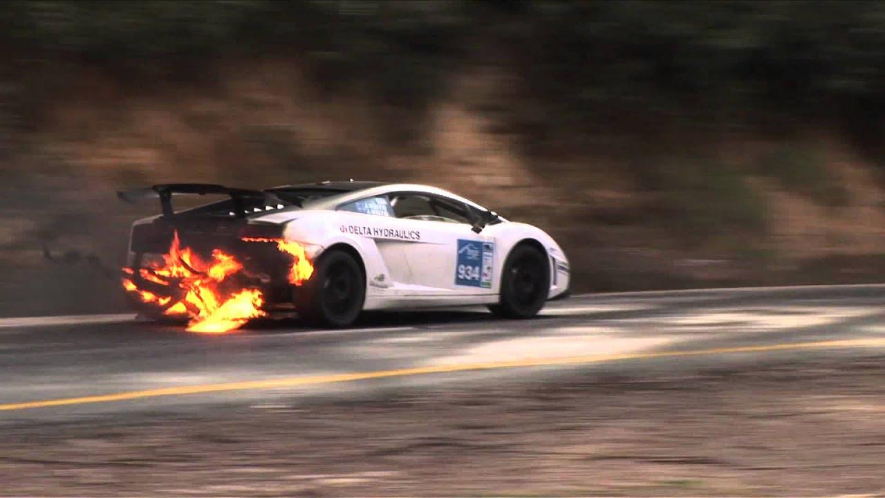 Lamborghini Gallardo On Fire At Targa High Country 2011 Youtube