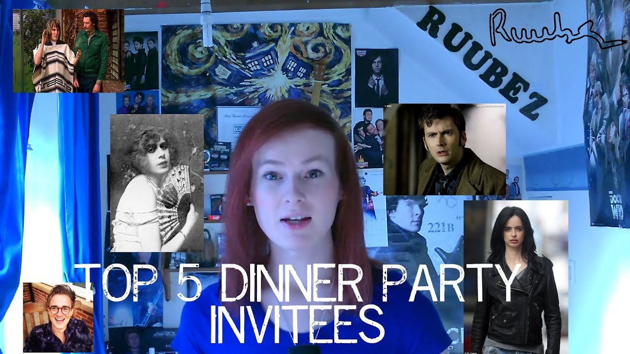 ruubez top 5 dinner party invitees get to know me youtube