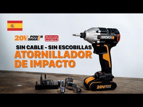 WORX WX261 Atornillador de impacto sin cable/sin escobillas - Español - worx-europe.com