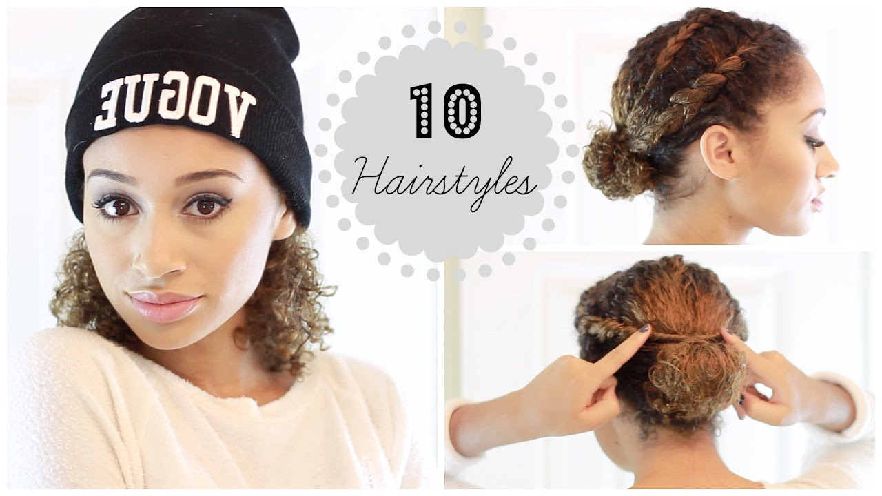 10 Easy Fall Winter Hairstyles For Curly Hair Youtube