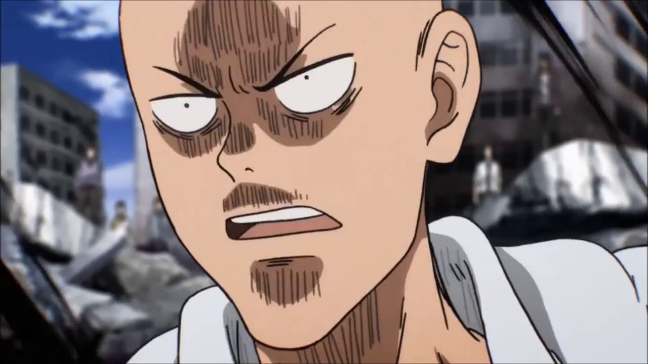 all faces of Saitama One Punch Man HD - YouTube