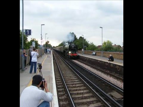 Tornado Steam Locomotive 60163 charging through Rainham Station