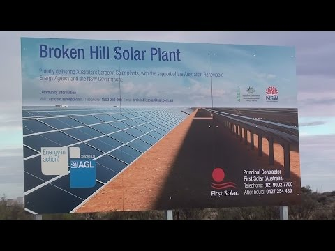 Broken Hill Solar Plant that uses solar panels Video