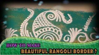 Learn Rangoli : Beautiful Border Rangoli Design