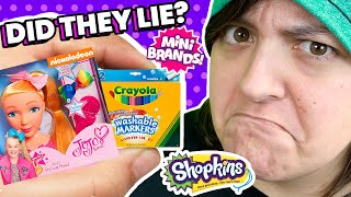 Is It TRUE? Testing Rares in Mini Brands Mystery Boxes  Unboxing TikTok Trends