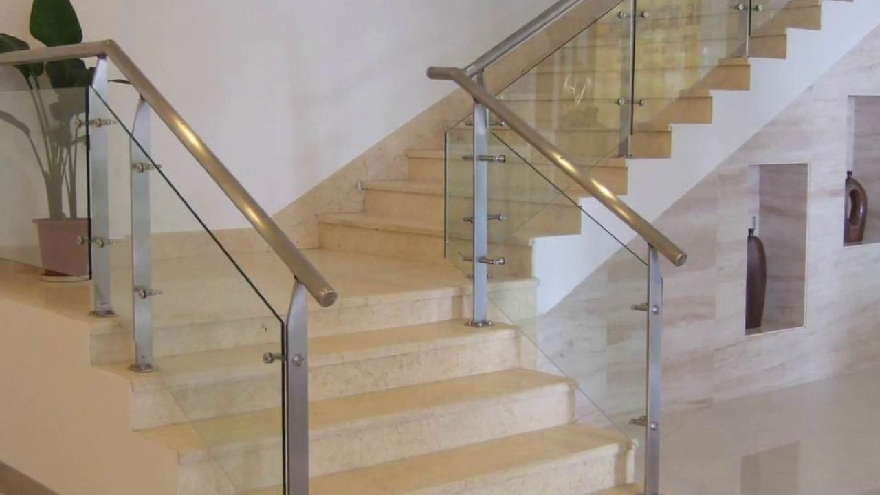 Stainless Steel Handrail for Stairs Designs - YouTube