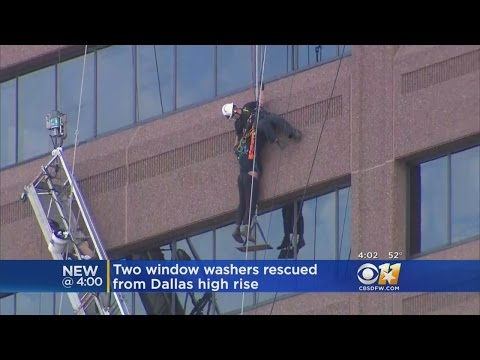 Emergency Crews In Dallas Rescue 2 High-Rise Window Washers